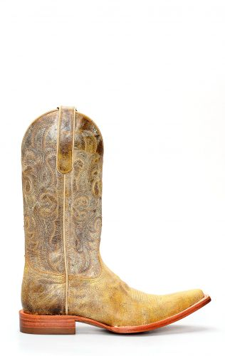 Jalisco boots in aged leather with embroidery
