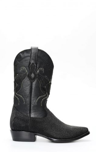Cuadra boots in black manta leather