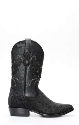 Stivali Cuadra in pelle di manta nera