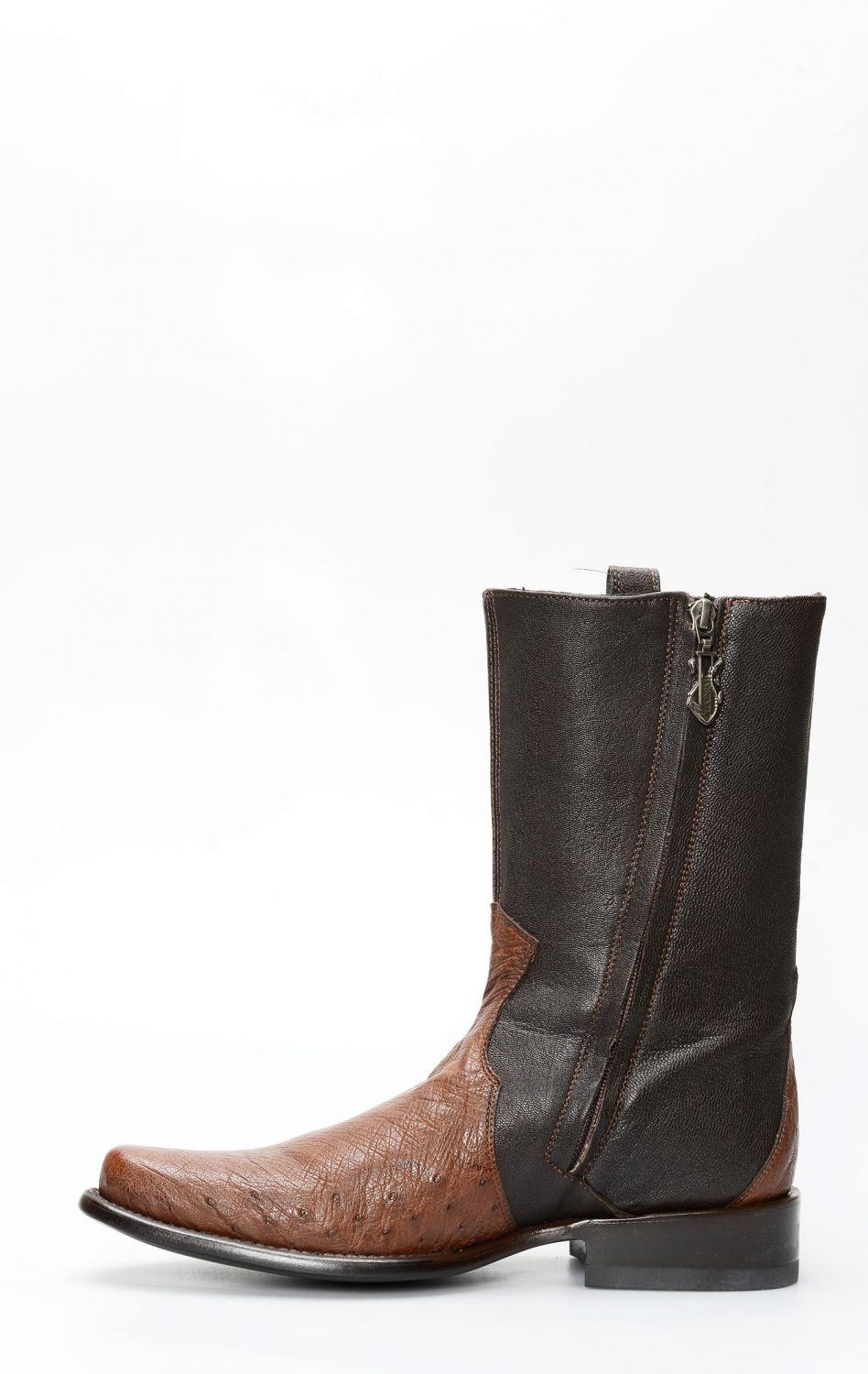 e24cec8b94b Cuadra brown ostrich belly boots with toe on shoulder | CLAVBYS4AVBYKT
