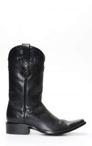 Black Cuadra boots with square toe