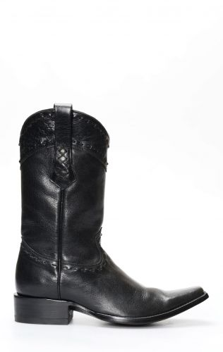 Black Cuadra boots with square toe