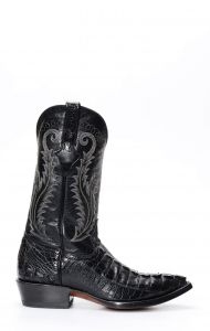 Stivali Cuadra in pelle di coccodrillo nero
