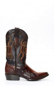 Brown Cuadra boots in lizard skin