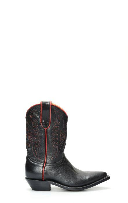 Stivali Jalisco bimbo texano nero