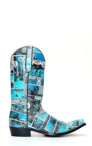 Textured cartoon Jalisco boots
