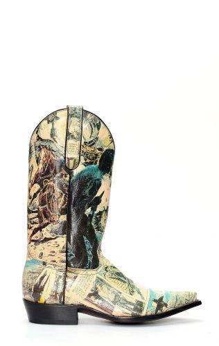 Bottes Jalisco avec imprimé de bande dessinée