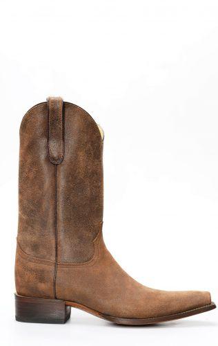 Stivali Jalisco in pelle rovesciata e punta squadrata