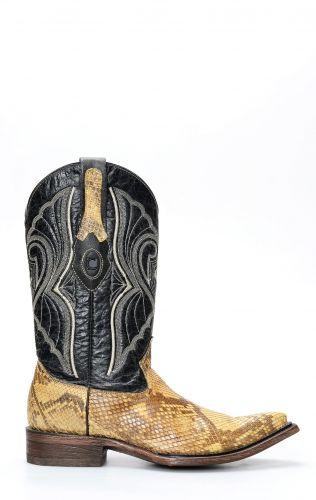 Cuadra Boots en cuir de python