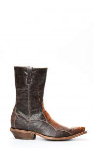 Stivali Cuadra rustico in gamba di struzzo musgo