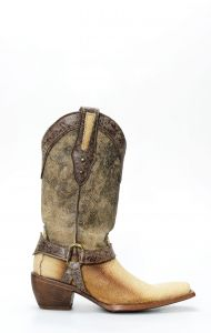 Frida by Cuadra boots in beige manta leather