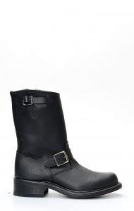 Bottes Walker historiques en cuir noir graissé pour homme