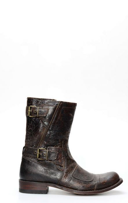 Sendra boots in aged leather with zipper