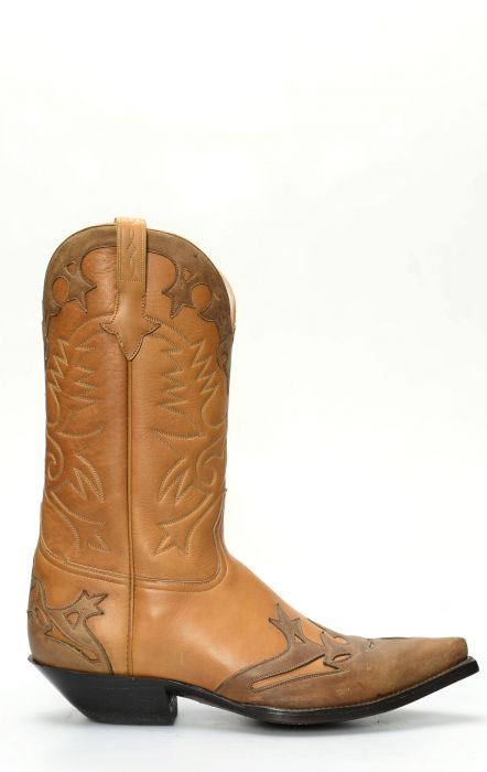 Brown Jalisco boots with dark brown contrasting mask