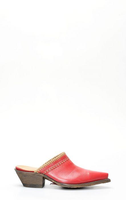 Sabot Jalisco rossi con mascherina a contrasto