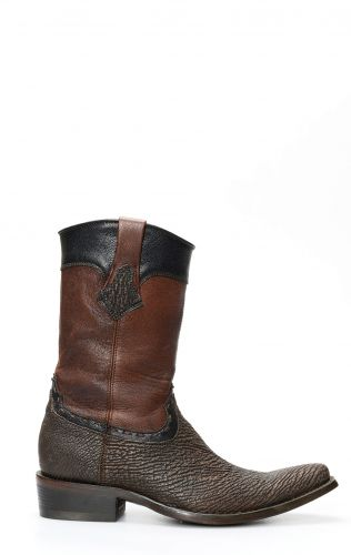 Boots Cuadra dark brown / black in shark skin