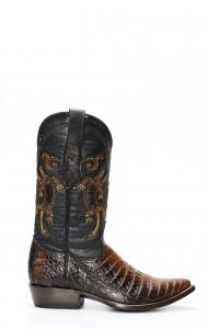 Cuadra boot in Caiman Belly leather