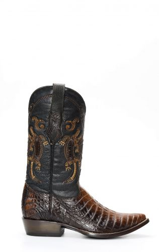Stivali Texani Cuadra in pelle di Pancia di Caimano