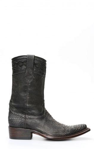 Stivali Cuadra in pelle di pitone color fango gris