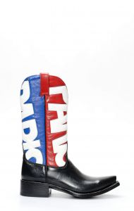 Mexicana boots with flag-colored leggings