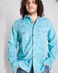 Camicia michael ryan uomo  p158sar colore azzuro