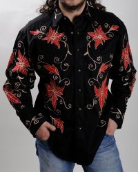 Floral Rockmount western shirt