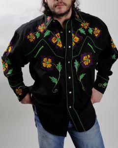 Vintage Rockmount floral western shirt