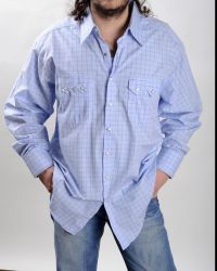 Light blue Rockmount shirt with thin chess