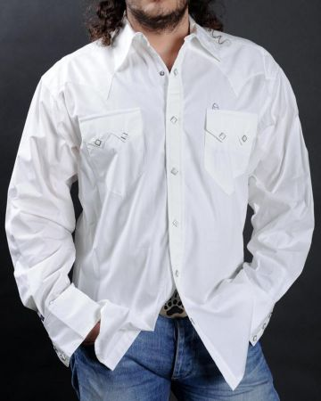 Chemise western blanche Rockmount