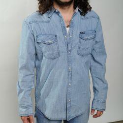 Camicia wrangler  cotton shirt navy