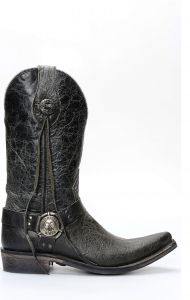 Stivali Texani Liberty Black in pelle nera