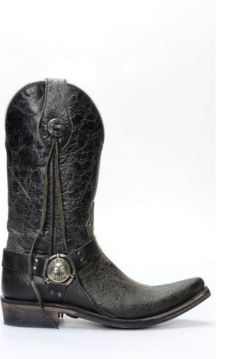 Bottes Liberty noires en cuir noir