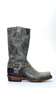 Stivali Liberty Black in pelle spazzolata con punta squadrata e fibbia laterale