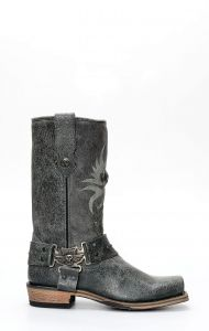 Liberty Black boots in inverted leather
