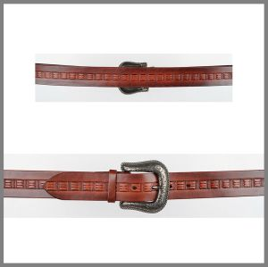 Inlaid brown Jalisco belt