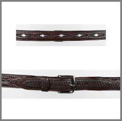 Dark brown Jalisco belt