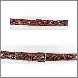 Cintura Jalisco marrone con borchie a rombo