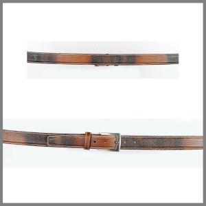 Cintura Cuadra   lucertola marrone