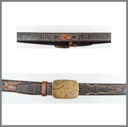 Cintura Cuadra in pitone  cv101 musgo