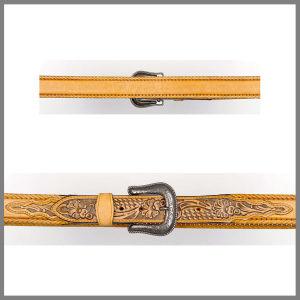 Cintura Jalisco gialla con ricamo floreale