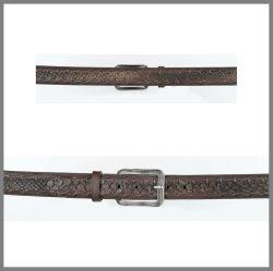 Cintura Cuadra marrone in pelle di pitone