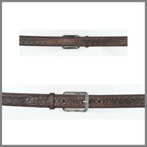 Cintura Cuadra marrone opaco in pelle di pitone