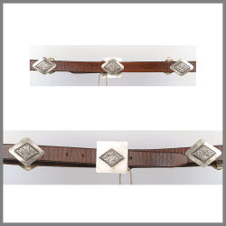 Brown Jalisco belt with diamond studs and buckle
