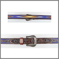 Cintura Jalisco  7083 marrone con perline
