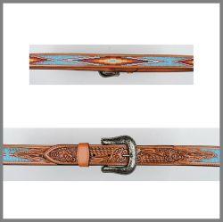 Cintura Jalisco marrone chiaro con perline