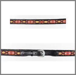 Cintura Jalisco  7083 nera con perline