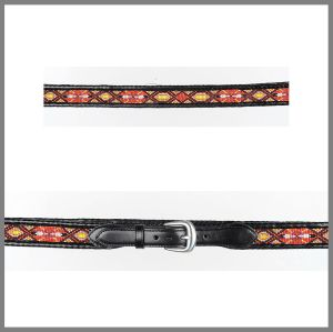 Black Jalisco belt with beads