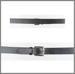Cintura Jalisco nera in pelle con lavorazione semplice