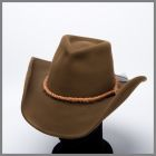Brown Shady Brady hat with rope band