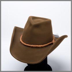 Bonnet Brady Shady marron avec bande de corde